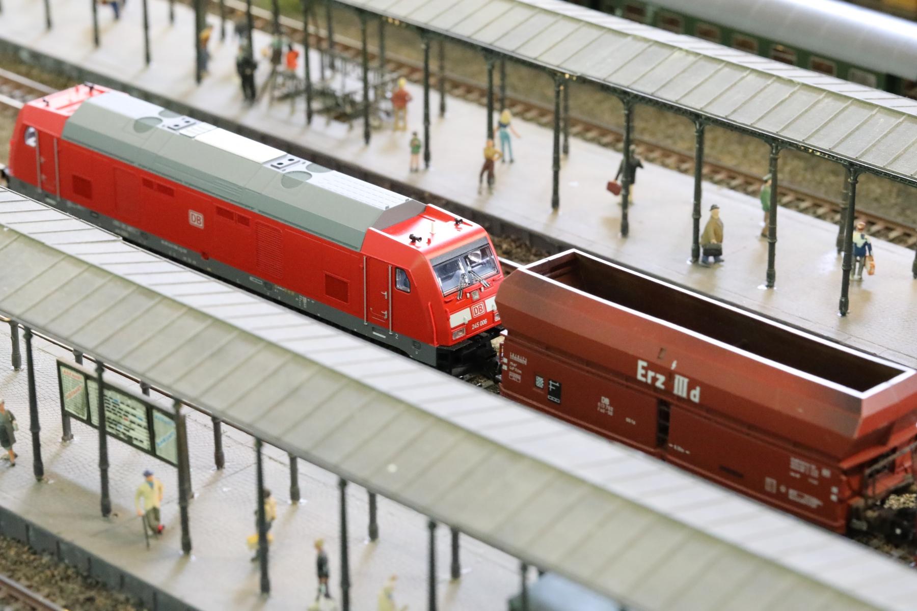 Durchfahrt eines Güterzuges